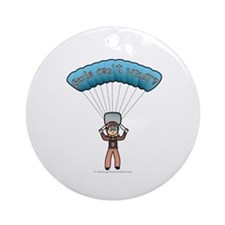 Blonde Sky Diver Ornament (Round)