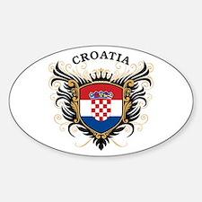 Croatia Sticker (Oval)