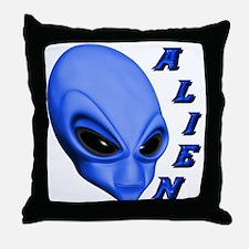 A.L.I.E.N. Blue Throw Pillow