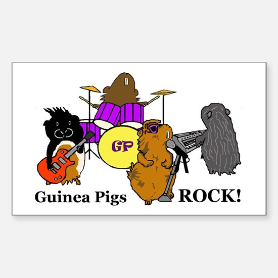 Guinea Pigs Rock! Rectangle Decal