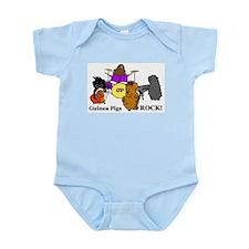 Guinea Pigs Rock! Infant Bodysuit