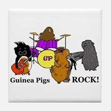 Guinea Pigs Rock! Tile Coaster