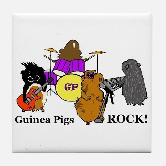 Guinea Pigs Rock! Tile Coaster