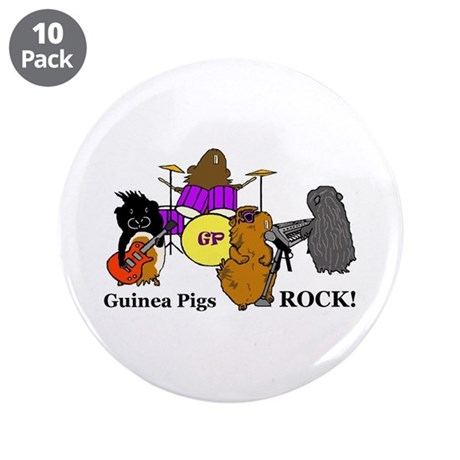 "Guinea Pigs Rock! 3.5"" Button (10 pack)"