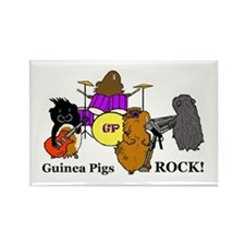 Guinea Pigs Rock! Rectangle Magnet