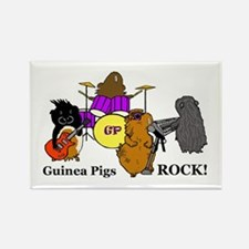 Guinea Pigs Rock! Rectangle Magnet