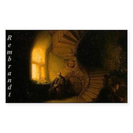 Rembrandt van Rijn Painting Rectangle Sticker