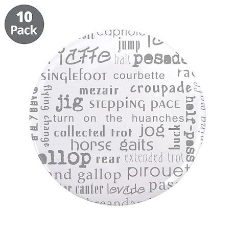 "Horse Gaits 3.5"" Button (10 pack)"