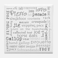 Horse Gaits Tile Coaster