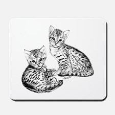 Savannah kittens Mousepad