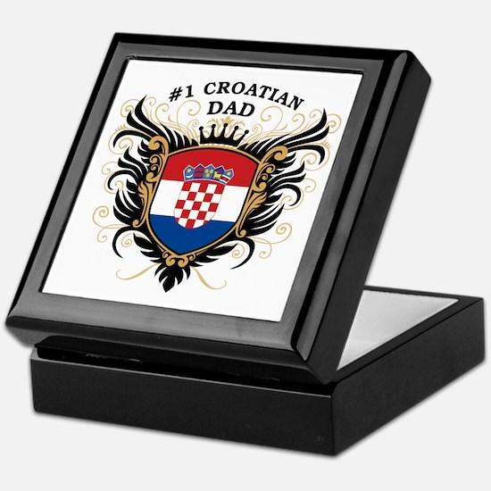 Number One Croatian Dad Keepsake Box