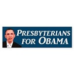 Presbyterians for Obama bumper sticker