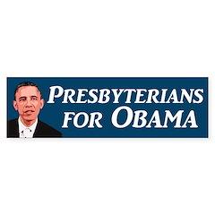 Presbyterians for Obama bumper sticker