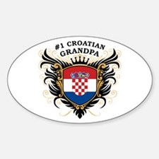 Number One Croatian Grandpa Oval Decal