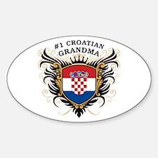 Number One Croatian Grandma Oval Decal