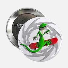 "Skateboard Gecko 2.25"" Button"