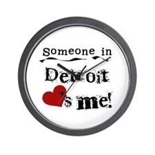 Detroit Loves Me Wall Clock