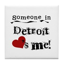 Detroit Loves Me Tile Coaster
