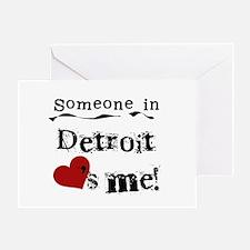 Detroit Loves Me Greeting Card