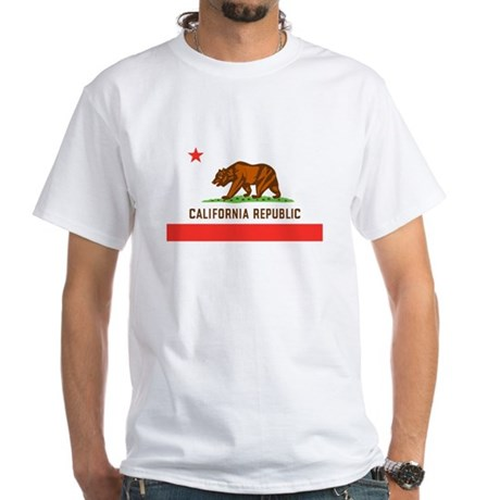 California State Flag White T-Shirt