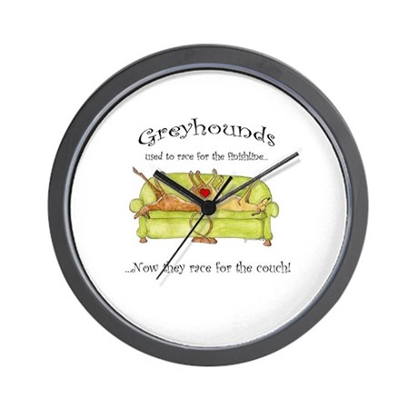 Racing For The Couch Wall Clock