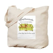 Racing For The Couch Tote Bag