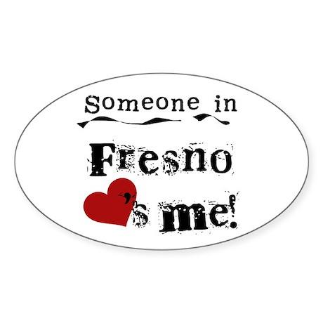 Fresno Loves Me Oval Sticker