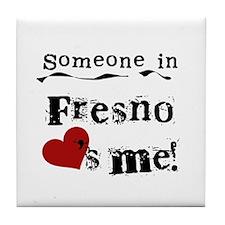 Fresno Loves Me Tile Coaster