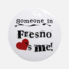 Fresno Loves Me Ornament (Round)