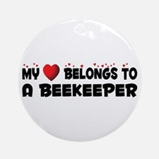 Belongs To A Beekeeper Ornament (Round)