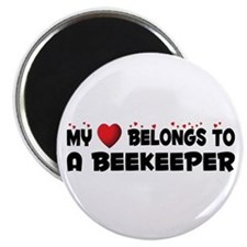 """Belongs To A Beekeeper 2.25"""" Magnet (100 pack"""