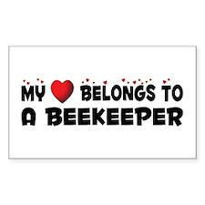 Belongs To A Beekeeper Rectangle Decal