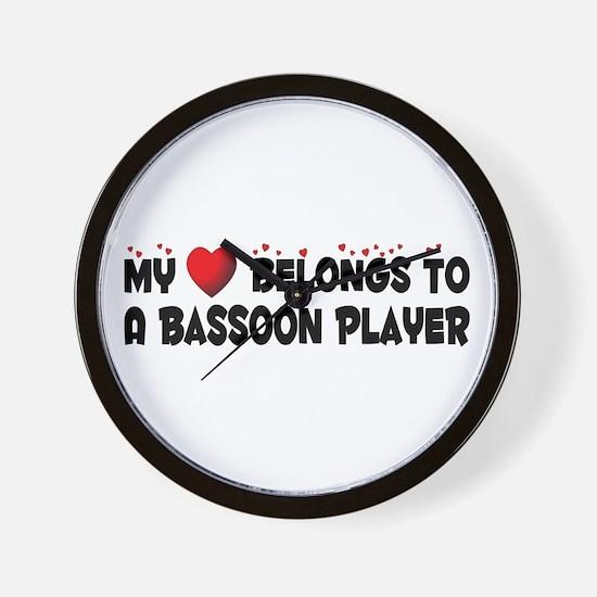 Belongs To A Bassoon Player Wall Clock