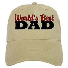 World's Best Dad Khaki Baseball Baseball Cap