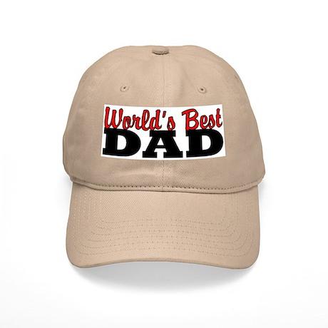 World's Best Dad Khaki Baseball Cap