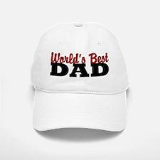 World's Best Dad White Baseball Baseball Baseball Cap