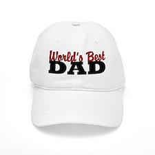 World's Best Dad White Baseball Baseball Cap