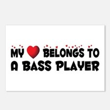Belongs To A Bass Player Postcards (Package of 8)