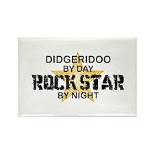 Didgeridoo Player Rock Star Rectangle Magnet