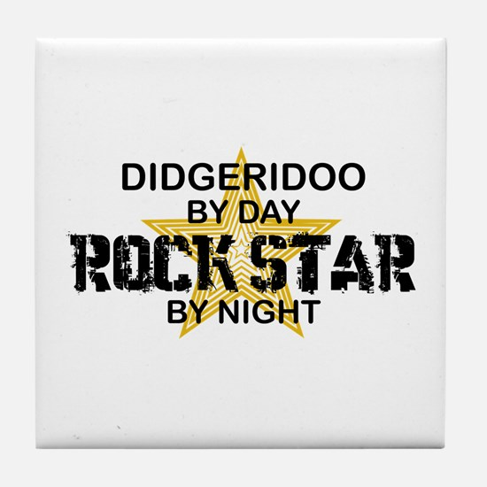 Didgeridoo Player Rock Star Tile Coaster