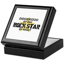 Didgeridoo Player Rock Star Keepsake Box