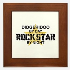 Didgeridoo Player Rock Star Framed Tile