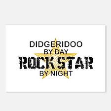 Didgeridoo Player Rock Star Postcards (Package of