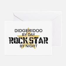 Didgeridoo Player Rock Star Greeting Cards (Pk of