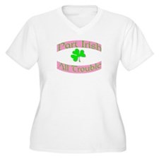 part irish all trouble. pink T-Shirt