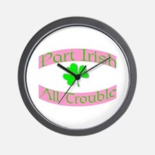 part irish all trouble. pink Wall Clock