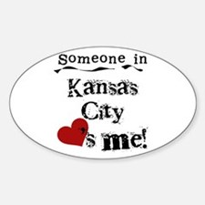 Kansas City Loves Me Oval Decal