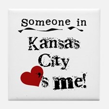 Kansas City Loves Me Tile Coaster