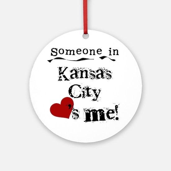 Kansas City Loves Me Ornament (Round)