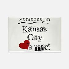 Kansas City Loves Me Rectangle Magnet